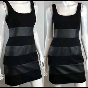 NWOT Bailey 44 striped faux leather lbd sleeveless